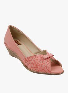 Peach peep toes
