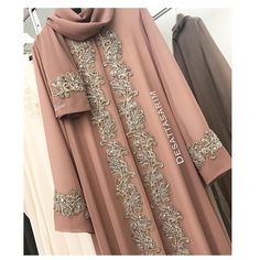 Image may contain: one or more people Muslim Women Fashion, Islamic Fashion, Abaya Fashion, Fashion Dresses, Abaya Pattern, Hijab Evening Dress, Hijab Style Tutorial, Abaya Designs, Dress Designs