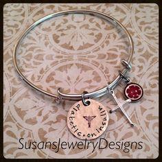 Medical Alert Expandable Bangle Bracelet  by SusansJewelryDesigns, $62.00