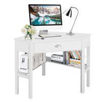 Costway Corner Computer Desk Laptop Writing Table Wood Workstation Home Office Furniture Desks For Small Spaces Corner Computer Desk Cheap Office Furniture