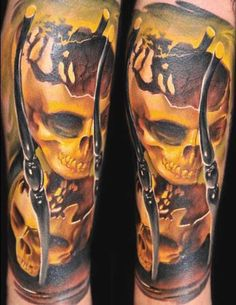 1000 images about tattoos on pinterest shark tattoos for Skull hourglass tattoo