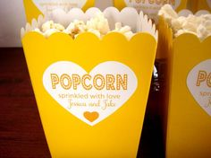 Popcorn Box Personalized food favor packaging by PoshBoxCouture, $9.75