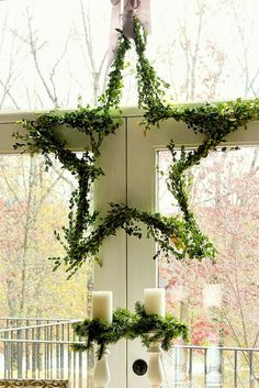 DIY boxwood star