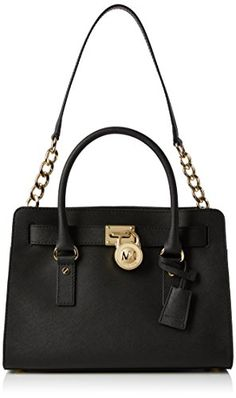 Women's Top-Handle Handbags - MICHAEL Michael Kors Hamilton 18K EastWest Satchel Black One Size *** Read more reviews of the product by visiting the link on the image.