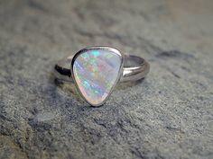 1.1 Carat Opal Ring by SirensandAngels on Etsy, $195.00
