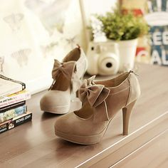 Women's Spring Summer Fall Winter Platform Suede Office & Career Dress Stiletto Heel Platform Camel 2017 - $27.99