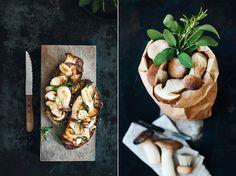 Brot mit gebratenen Pilzen • KRAUTKOPF