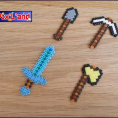 Thème minecraft arme en perle hama mini