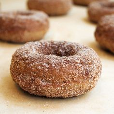 A recipe for homemade apple donuts, packed with fresh apple and apple sauce. Coated with a crunchy cinnamon sugar. Baked and perfectly delicious!