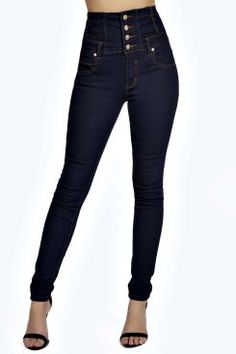 Sandy Super High Waisted Skinny Indigo Jeans