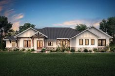 Texas Ranch Style - Open floor plan - Four large bedrooms - Large game room - Volume ceilings - Large rear porch - Three car garage - Luxurious master sui. Family House Plans, Ranch House Plans, Texas House Plans, Rambler House Plans, Ranch House Exteriors, Texas Houses, Casas Texas, Style At Home, Plane 2