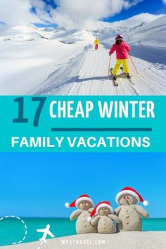 Cheap Family Winter Vacation Destinations in the U. - Ideas for cheap family winter vacations in the United States — with warm weather and cold weather - Inexpensive Family Vacations, Cheap Winter Vacations, Winter Family Vacations, Vacations In The Us, Family Travel, Family Getaways, Family Trips, Pumpkin Recipes, Fall Recipes