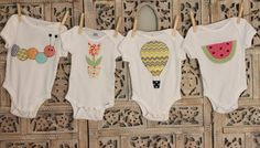 Caterpillar Applique Bodysuit by allisonparkerdesigns on Etsy