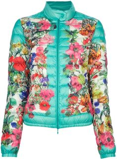 MONCLER Alisia Printed Padded Jacket - Lyst   co cute and colorful for the fall/winter! Love it M.S.