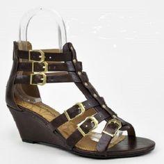 Womens Ankle Strappy Open Toe Gladiator Sandals Zipper Buckle Heel Low Wedge NEW #CityClassified #PlatformsWedges