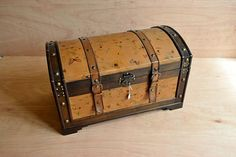 Antique Style Storage Chest  Retro Treasure Trunk in Wood and