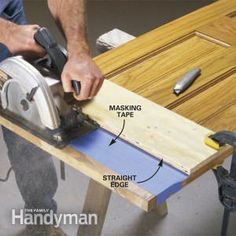 Learn how to trim a wood door with a circular saw - without splintering the wood or damaging the finish!