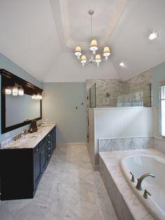 2nd Bath.  light granite, and tile floor, dark cabinet. aqua wall contrast.  Bathroom Aqua And Brown Design, Pictures, Remodel, Decor and Ideas - page 4