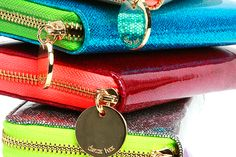 Love the fun metallic shades of these wallets to carry around on the weekend.