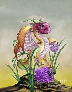 Onion Digital Art - Onion Dragon by Stanley Morrison Tiny Dragon, Dragon Art, Magical Creatures, Fantasy Creatures, Dragon Series, Dragon Pictures, Cute Dragons, Wow Art, Fantasy Artwork