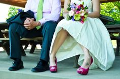 Hot Pink and Lime Green Wedding| Photo by: gabrielleorcutt.com