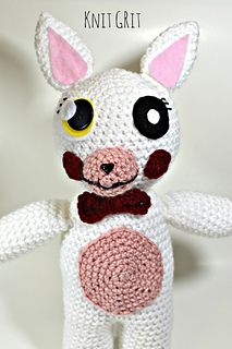 FNAF Mangle Amigurumi - Video Tutorial and pattern by Codi Hudnall / Knit Grit. Five Nights At Freddy's.