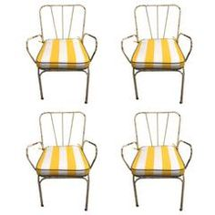 Set of Four French Bistro Garden Chairs