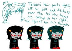 Terezi Pyrope hair. This will be helpful because I'm doing a cosplay of Terezi.