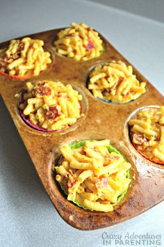 Mac and Cheese Pizza Muffins ready to bake