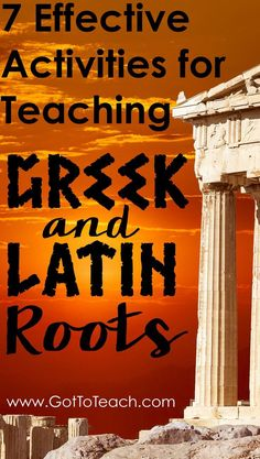 Greek and Latin Roots Fun, easy, and engaging activities for teaching Greek and Latin roots.Fun, easy, and engaging activities for teaching Greek and Latin roots. Vocabulary Instruction, Teaching Vocabulary, Teaching Writing, Teaching English, Vocabulary Strategies, Vocabulary Ideas, Teaching Spanish, Academic Vocabulary, Teaching Ideas