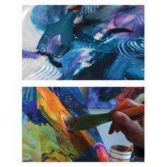 Ei mikään perinteinen sivellin, muttei myöskään tavallinen maalausveitsi - Catalystin Blade silikonisiveltimissä yhdistyy molempien parhaat puolet. Niiden avulla sysäät liikkeelle niin paksut akryyli- ja öljyvärit kuin tuhdit maalaus- ja lisäaineseoksetkin.  #catalyst #blades #brush #akryyli #acrylic #paint #painting
