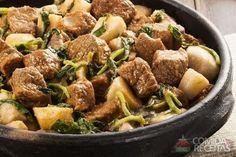 Receita de Cozido de costela com inhame e agrião em receitas de carnes, veja essa e outras receitas aqui!