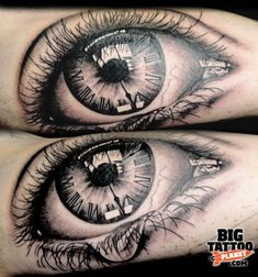 eye with pocket watch tattoo - Google Search