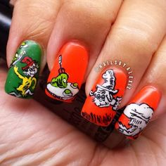 Dr. Seuss Green eggs and ham by nailsbyalexiz  #nail #nails #nailart