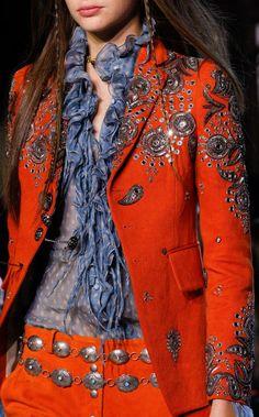 Boho Beauty Vibe Roberto Cavalli Spring 2017 Ready-to-Wear Fashion Show Details Fashion 2017, Runway Fashion, Boho Fashion, Spring Fashion, High Fashion, Fashion Show, Fashion Outfits, Womens Fashion, Fashion Trends