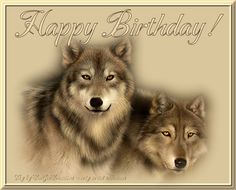 Image result for wolf happy birthday images