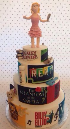 Musical theatre themed cake.