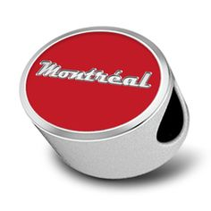 Double-sided sterling silver bead features Rock 'n' Roll Marathon Series Guitar Logo and Montreal Tour Stop