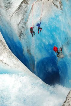 Ice climbing out of the Moulin of Death | Flickr