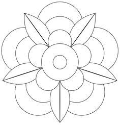 Vorlage für The Bright Owl: Zendala Dare # 41 – applique ideas - Malvorlagen Mandala Mandala Art, Mandala Design, Mandalas Drawing, Mandala Coloring Pages, Mandala Pattern, Flower Mandala, Rangoli Patterns, Zentangle Patterns, Embroidery Patterns