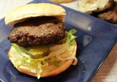 These BBQ Honey Mustard Ranch Burgers are amazing!