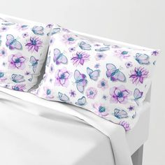 Buy Purple Butterflies Flying Pillow Sham by augustinet. Worldwide shipping available at Society6.com. Just one of millions of high quality products available. Pillow Shams, Duvet, Bed Pillows, Butterflies Flying, Purple Butterfly, Outdoor Cushions, Duffel Bag, Wall Tapestry, Spoonflower