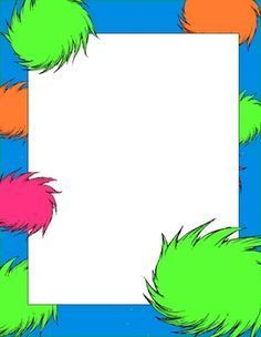 Dr. Seuss Border Templates | horton hears a who classroom theme | Set of 8 suess inspired papers ...