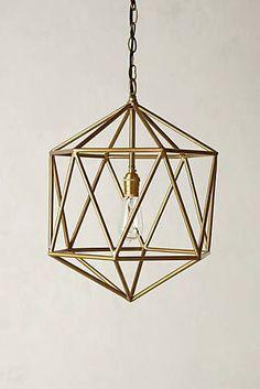 Euclidean Pendant, Faceted Orb