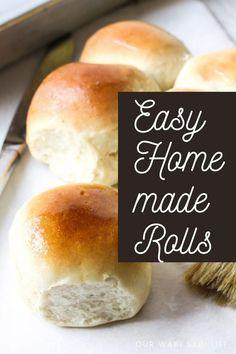 Roll Recipe, Recipe For Mom, Dough Recipe, Recipe Today, Muffin Recipes, Bread Recipes, Diy Food, Food Ideas, Mexican Chopped Salad