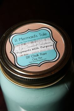"""A Mermaid's Tale"" DIY Chalk Paint Color Inspired by Mermaid Cottages, Tybee Island (Pigments With Purpose) Chalk Paint Colors, Mermaid Tale, Paint Line, Tybee Island, Diy Painting, Cottages, Purpose, Homemade, Inspired"