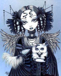 Myka Jelina's Gothic Victorian Fairy Cat Elizabeth Angel