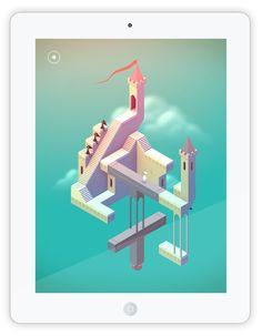 """""""Monument Valley"""" ist ein aufwendig und grafisch toll gemachtes Rätsel Spiel für iPhone, iPad, Android und Windows Geräte. Man begleitet das stumme Mädchen Ida durch surrealistische Monumente, die an die Werke von M. C. Escher erinnern. Durch Verschieben und Drehen von Wegen und Treppen führt man die kleine Ida durch die unmöglich scheinende Architektur. Es gibt insgesamt 10 Welten, deren optische Täuschungen immer kniffliger, aber nicht unlösbar werden."""