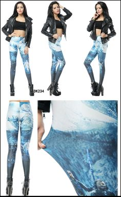Print Leggings, Chic, Shabby Chic, Printed Leggings, Elegant