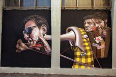 Belin, mural in Foggia, Italy, 2011